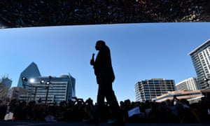 Marco Rubio addresses a rally in Dallas. The party establishment sees him as the best chance of stopping Trump.