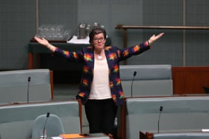 Cathy McGowan after the house of representatives adjourned early in Parliament House