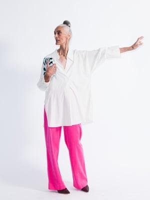 Model wears shirt, £59.99, mango.com. Corduroy trousers, £29.99, zara.com. Heels, £174, gestuz.com. Clutch, £95, anthropologie.com.