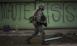 Philippines' soldiers clear streets in the battle for Marawi in 2017. Local authorities are monitoring Isis foreign fighters, with fears their numbers may have grown.