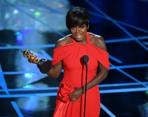 Actor Viola Davis accepts Best Supporting Actress for her performance in Fences
