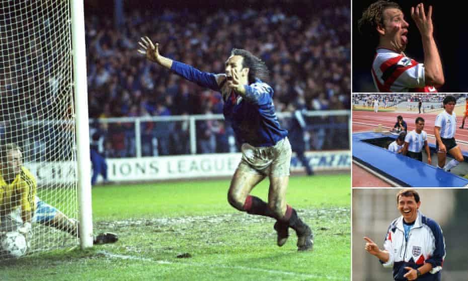 Mark Hateley, Paul Merson, Diego Maradona and Graham Taylor.