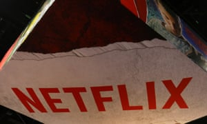 Netflix's booth at Comic-Con. The service is reportedly $20.5bn in debt