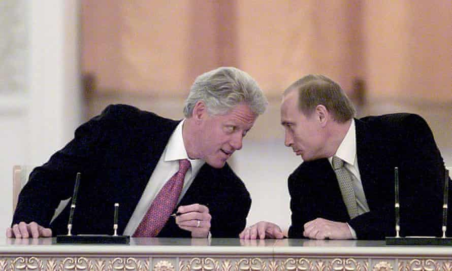 Bill Clinton and Vladimir Putin