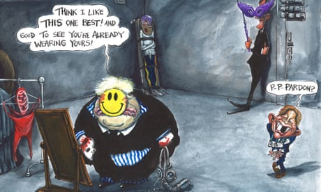 Martin Rowson on the UK government's face mask policy – cartoon