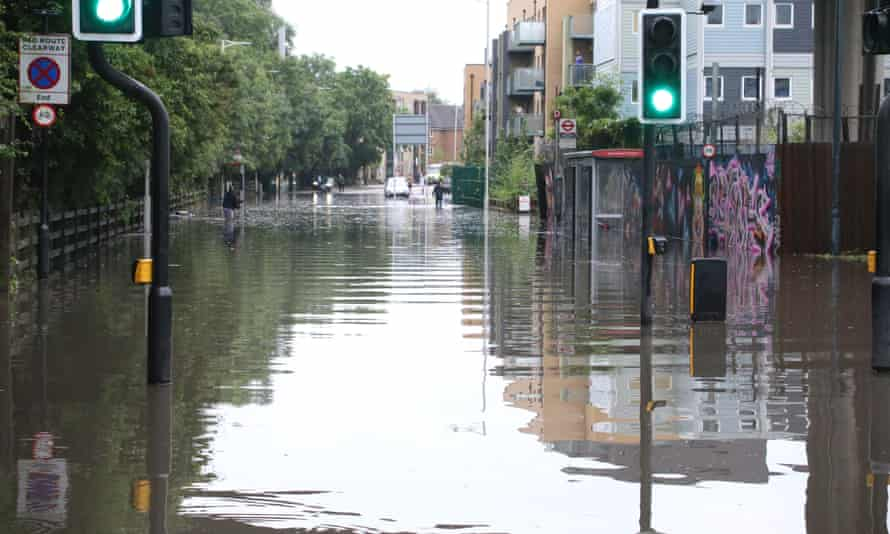 Flooding in north London, 25 July