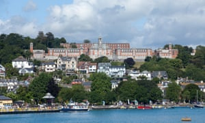 The Royal Naval College, Dartmouth, viewed from across the River Dart.