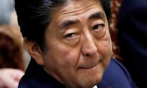 Japan's prime minister Shinzo Abe has been beset by cronyism scandals.