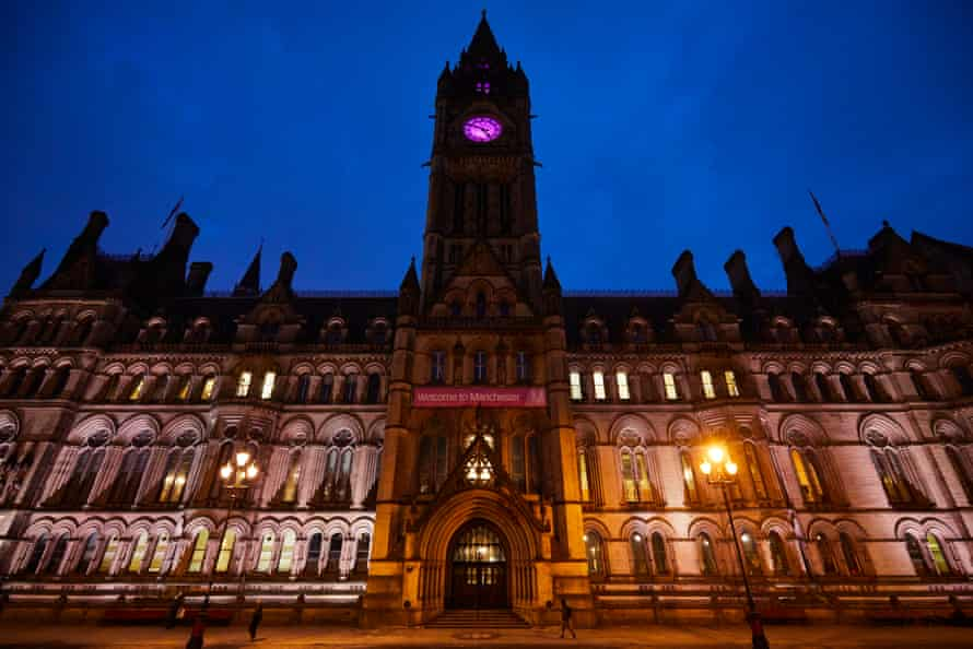Manchester's neogothic town hall.