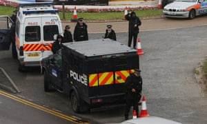 Armoured police vehicle at Heathrow Airport in July 2007