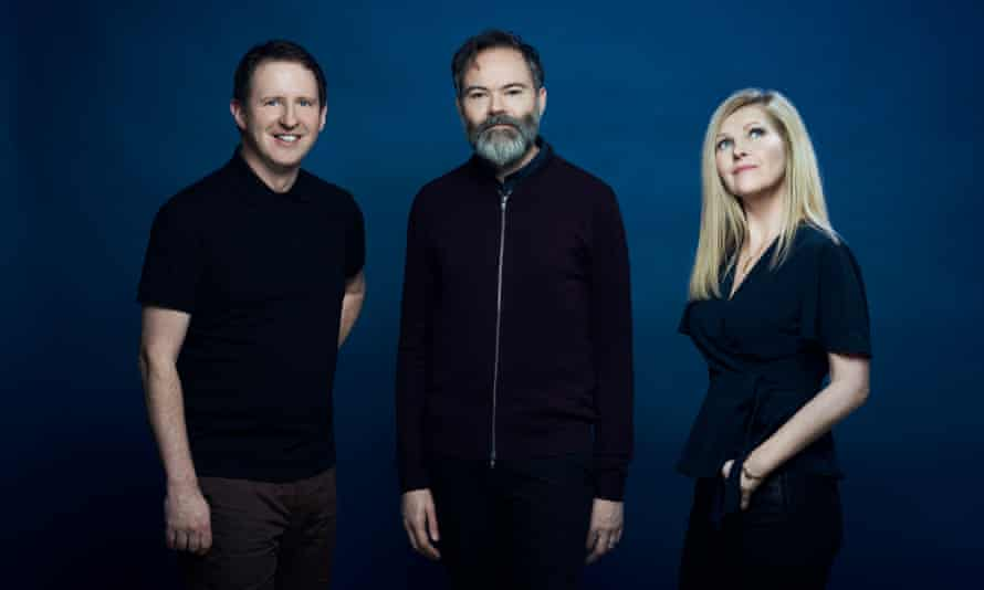 Bob Stanley, Pete Wiggs and Sarah Cracknell of Saint Etienne