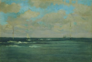 The Bathing Posts, Brittany, 1893.