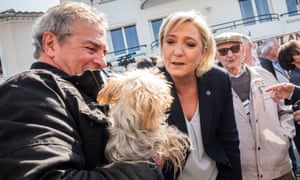Marine Le Pen on the campaign trail. 'Even the most ridiculous thing she says makes headlines,' says Edouard Louis