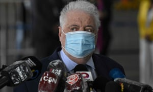 Argentina's health minister Gines Gonzalez Garcia.
