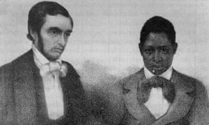 Mahommah Gardo Baquaqua, right, with the Rev William L Judd.