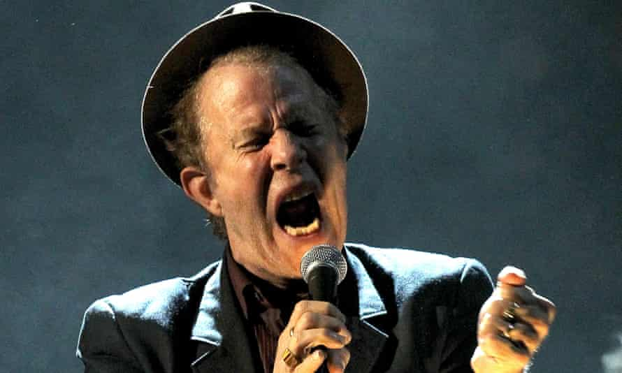 'Volume, volume, turn up the volume' – Tom Waits performs in 2011.