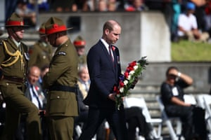 Prince William lays a wreath