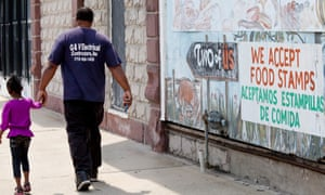 Harvey, Illinois, is a depressed suburb of Chicago that was hit hard by the sluggish economy. The president is also proposing work requirements for several federal programs including housing subsidies and Medicaid.