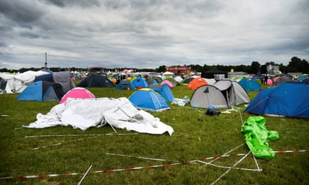 The camping site of the Bråvalla festival.