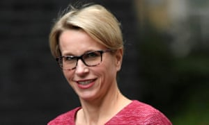 GlaxoSmithKline chief executive, Emma Walmsley, arrives for a meeting in Downing Street in central London.