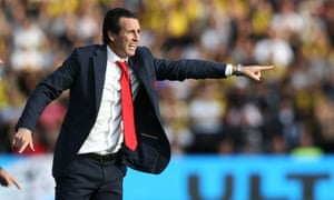 Arsenal's manager Unai Emery would not blame individual players and said: 'I don't want to say it is for one player or another. Our work is our responsibility.'