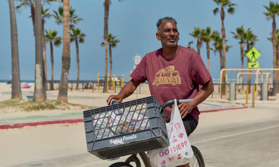 Kenneth Stallworth, 62, who previously lived in a tent at Venice Beach, now lives in a nearby shelter.