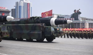 Missile crisis – the sequel … military parade in central Pyongyang.