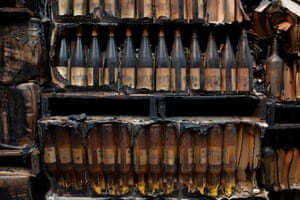 Some thousands of bottles of wines at the Castello di Amorosa winery were destroyed.