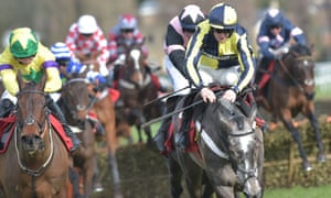 One For Rosie and Sam Twiston-Davies, right, on their way to reaching the first winning post in front.
