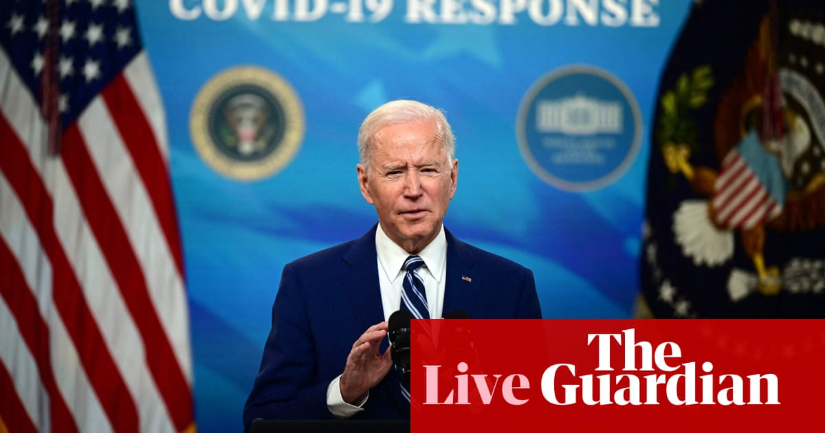 White House announces 100m American adults fully vaccinated – US politics live