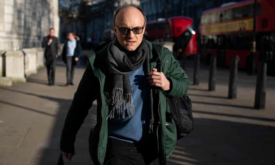 Dominic Cummings in Whitehall last week.