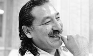 Leonard Peltier, pictured at Leavenworth federal prison in 1992, is serving two consecutive life sentences for the murders of two FBI agents in 1975.