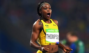 Sprinter Elaine Thompson