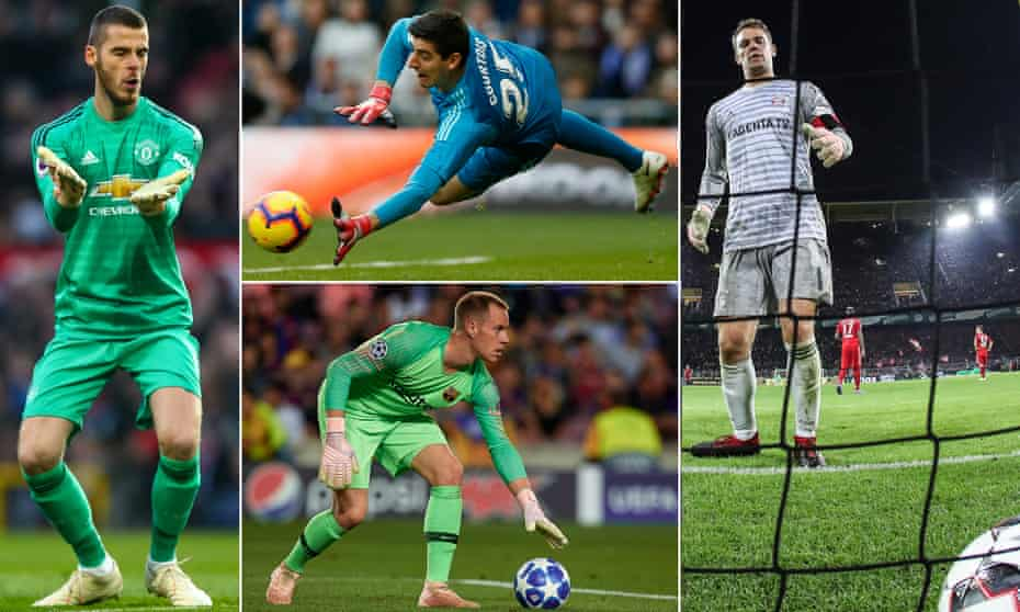 David de Gea, Thibaut Courtois, Manuel Neuer and Marc-André ter Stegen have all let their high standards slip.