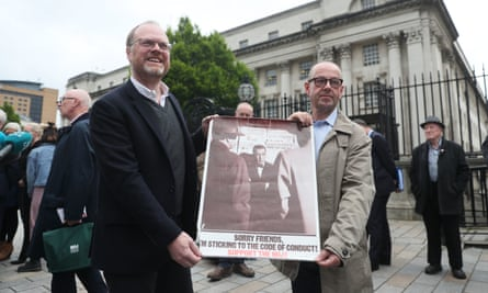 Journalists Trevor Birney and Barry McCaffrey