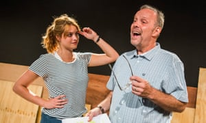 Reconciliation … Hannah Britland as Boo Killebrew and David Schaal as her father Larry in The Play About My Dad.