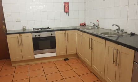 Refurbished kitchen in asylum seekers' accommodation.