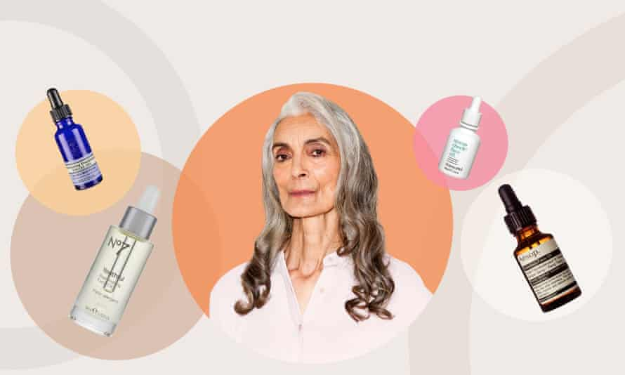 Pam and the face oils she has tested.