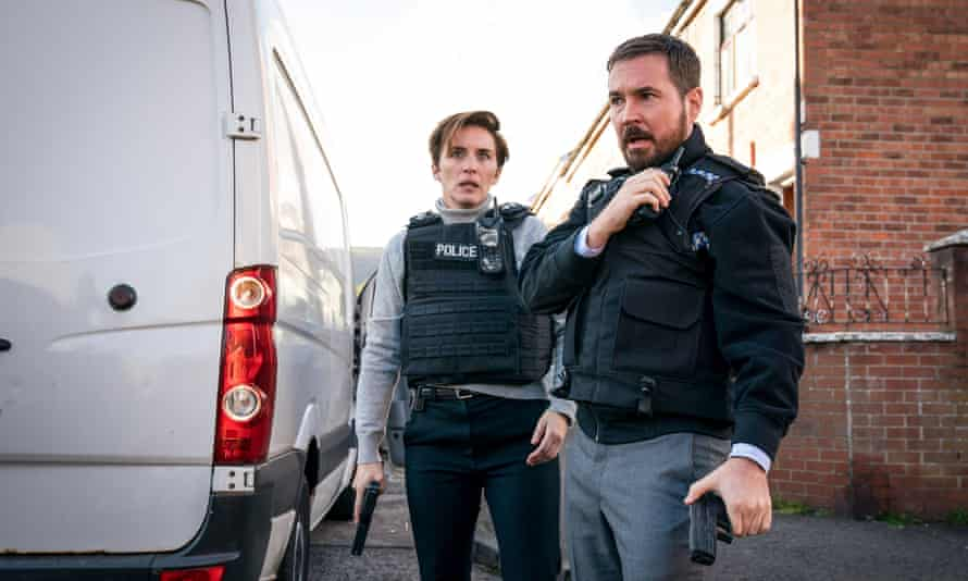 Vicky McClure as DI Kate Fleming and Martin Compston as DI Steve Arnott in Line of Duty.
