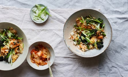 Anna Jones' broccoli and kimchi with fried rice.