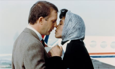 Kevin Costner and Whitney Houston in The Bodyguard (1992).