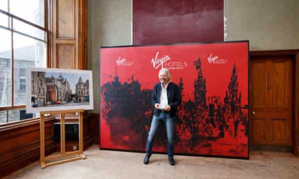 Richard Branson during a Virgin Hotels event at India Buildings, Edinburgh, in May 2018