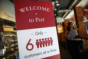 A Pret a Manger in New Cavendish Street, London