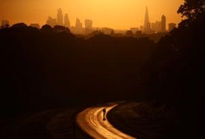 London, England. An early morning bike ride through Richmond park.