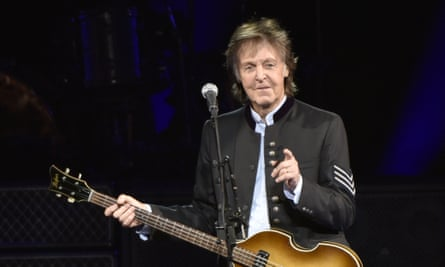 'He's a great guy' … Paul McCartney performing last month.