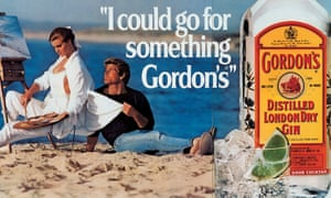 A detail of I Could Go For Something Gordon's by Jeff Koons, who has been accused of copying a Gordon's Gin advert