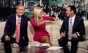Host Ainsley Earhardt makes her debut as co-host of the network's morning show Fox & Friends in February 2016.