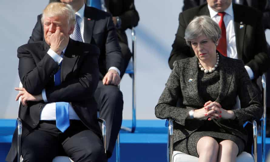 'Poor personal chemistry': Donald Trump and Theresa May at a Nato summit in Brussels last year