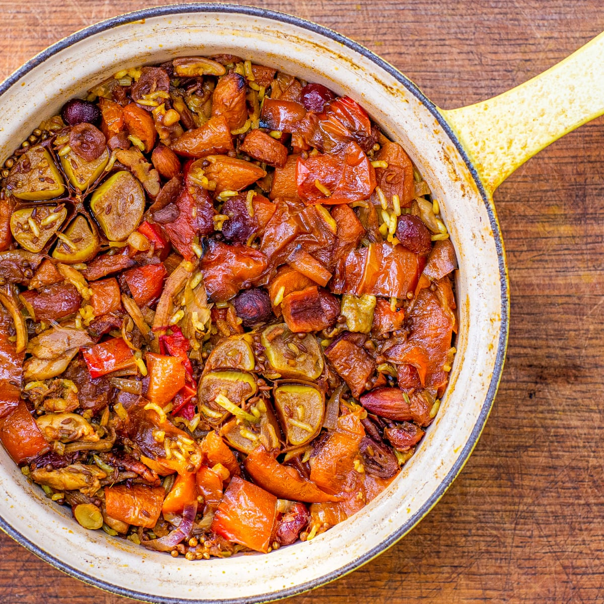 Tom Hunt S Christmas Recipe For Leftover Turkey Pilaf Christmas Food And Drink The Guardian