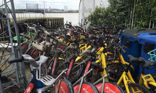 Bikes recovered from London's waterways